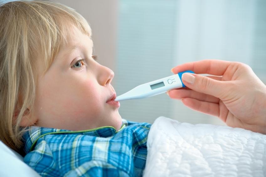 copil cu febra