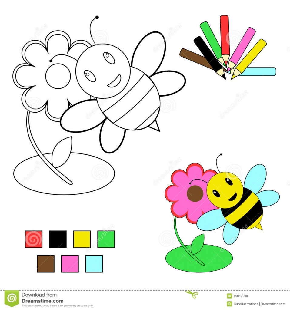 http://www.dreamstime.com/stock-photo-coloring-book-sketch-bee-flower-image19017930