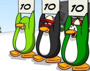pinguini cu note